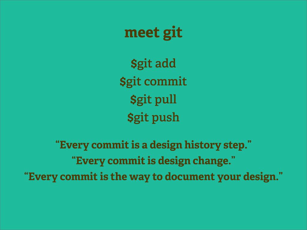 meet git $git add $git commit $git pull $git pu...