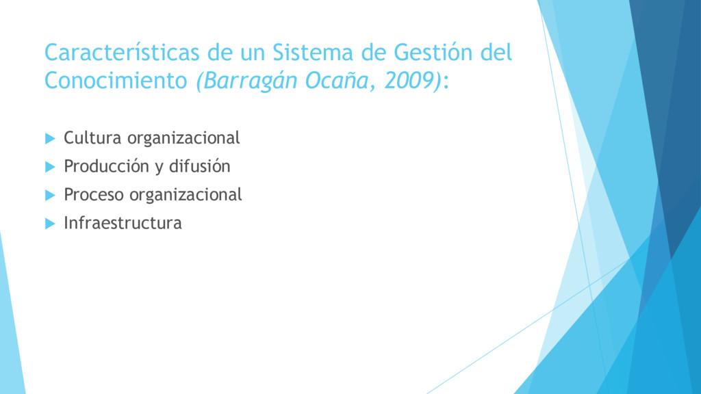Características de un Sistema de Gestión del Co...