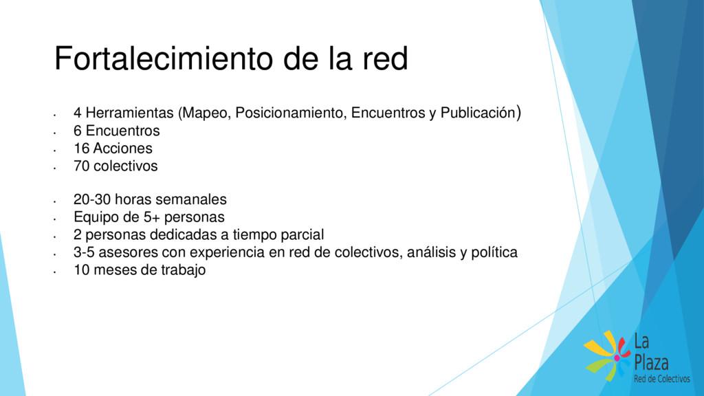Fortalecimiento de la red • 4 Herramientas (Map...