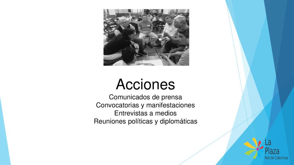 Acciones Comunicados de prensa Convocatorias y ...