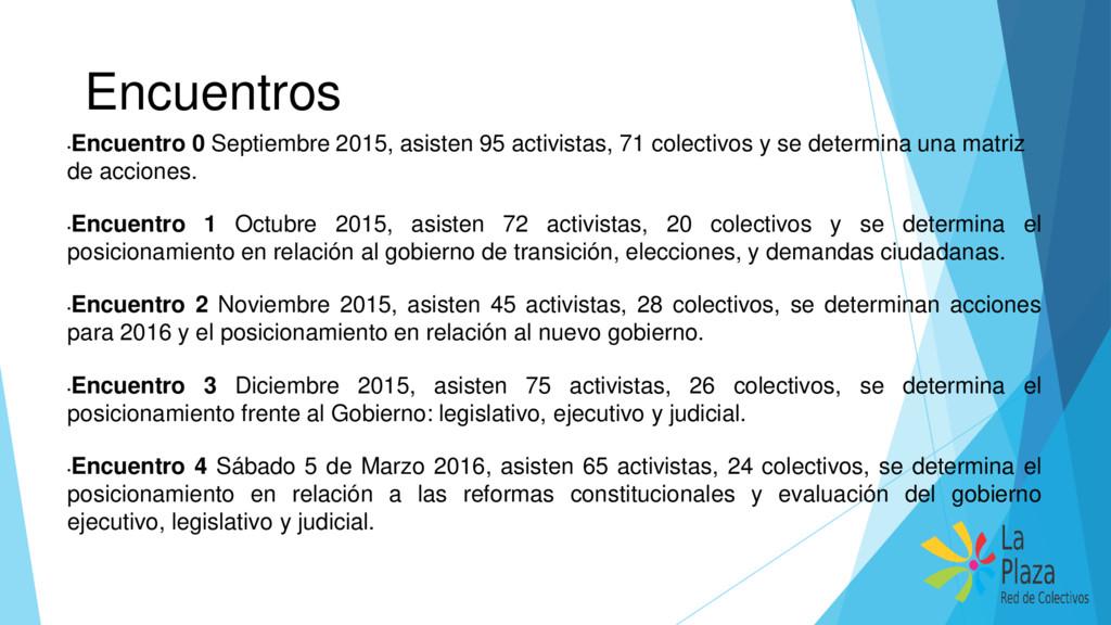 Encuentros • Encuentro 0 Septiembre 2015, asist...