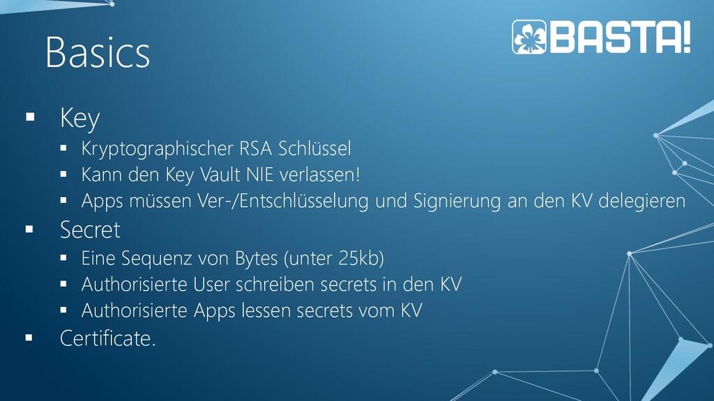 Basics ▪ Key ▪ Kryptographischer RSA Schlüssel ...