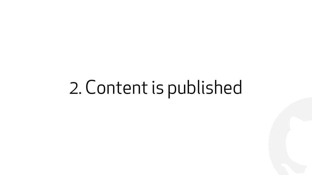 ! 2. Content is published