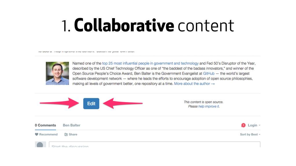 1. Collaborative content
