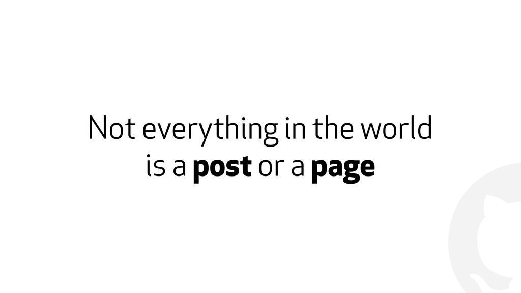! Not everything in the world  is a post or a ...