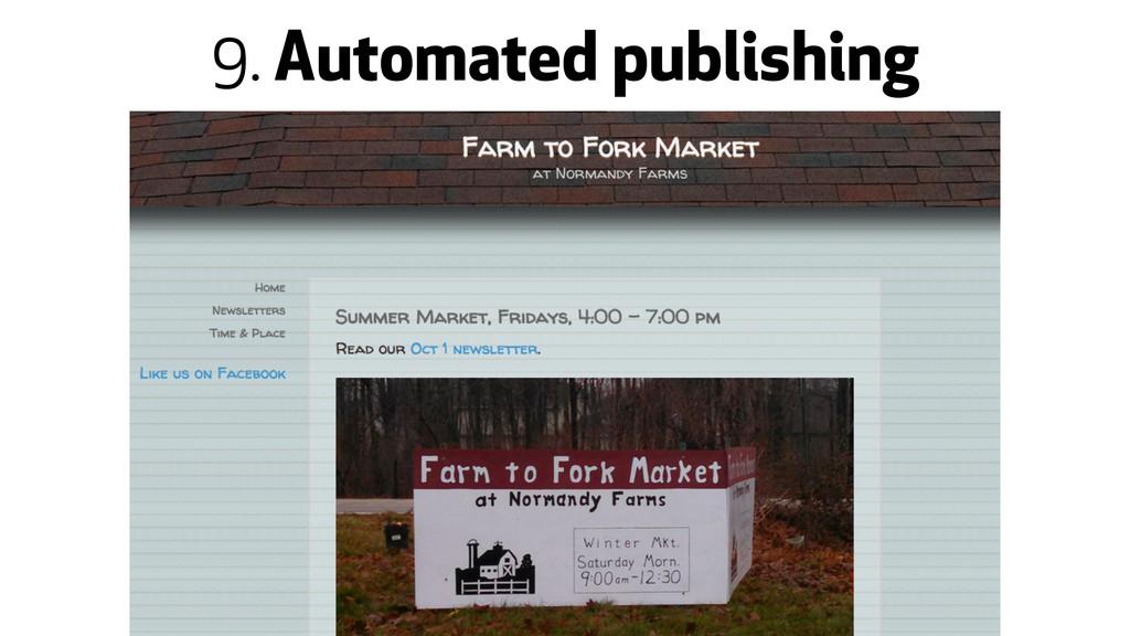 9. Automated publishing