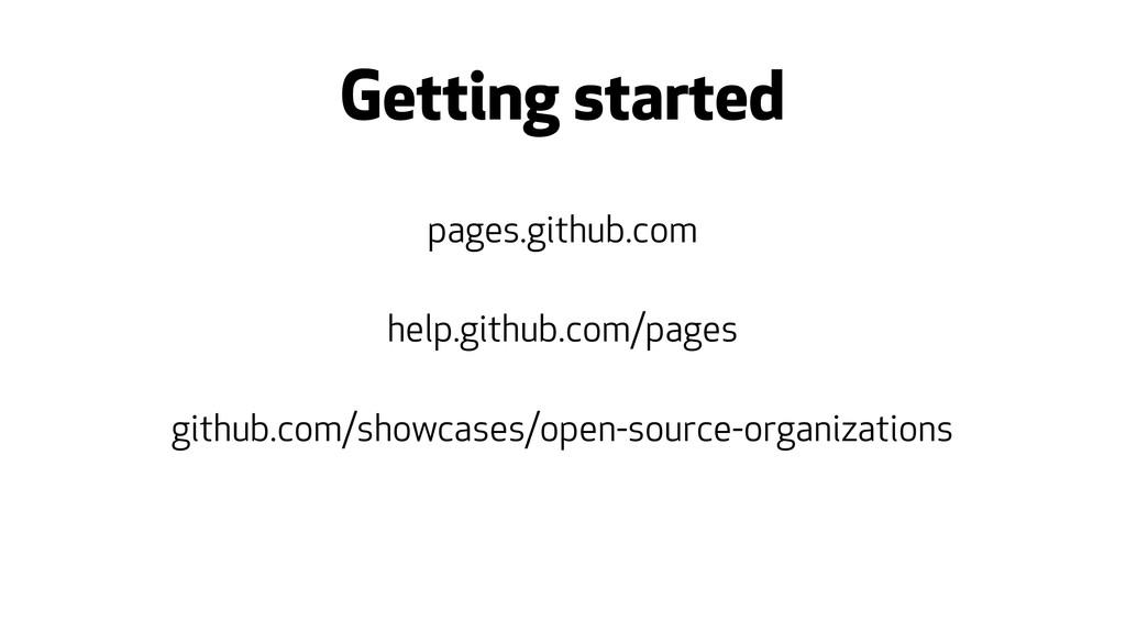 Getting started pages.github.com help.github.co...