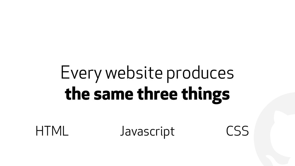 ! Every website produces  the same three thing...