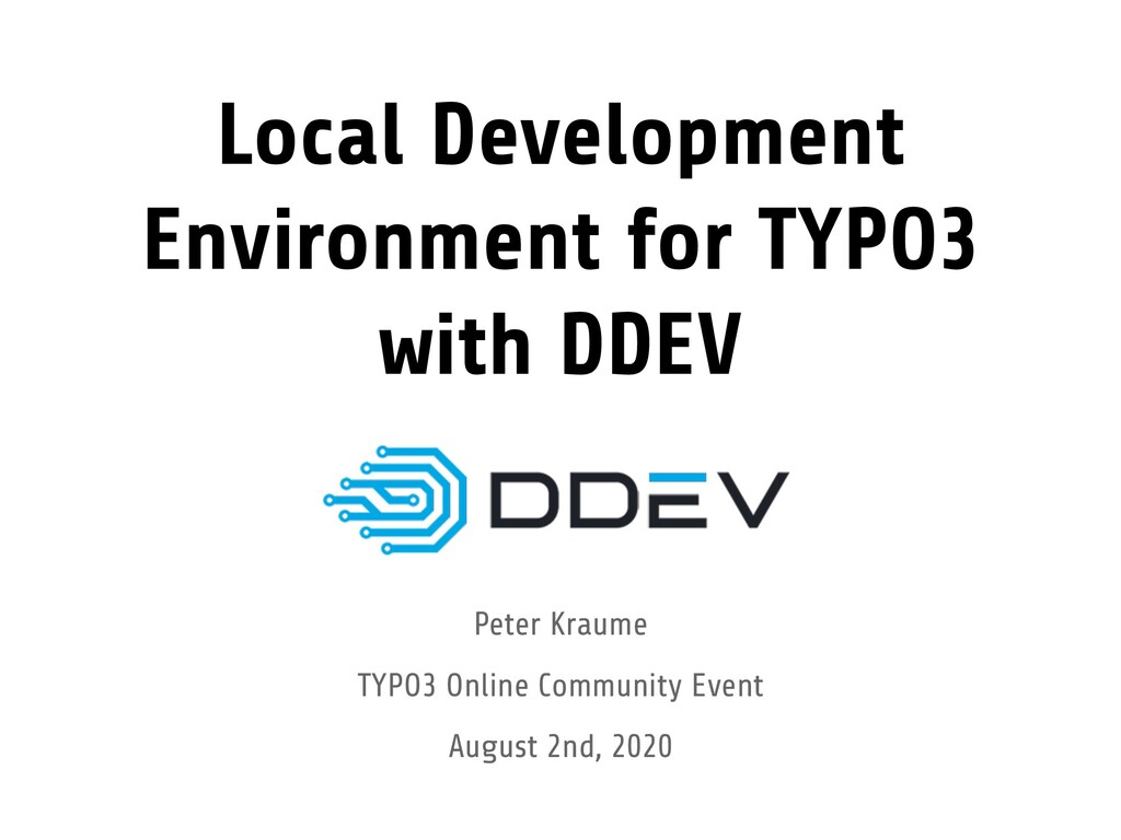 Local Development Environment for TYPO3 with DD...