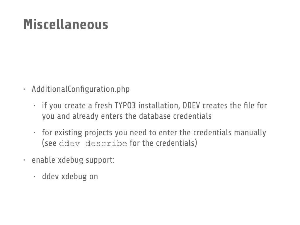 Miscellaneous • AdditionalConfiguration.php • if...