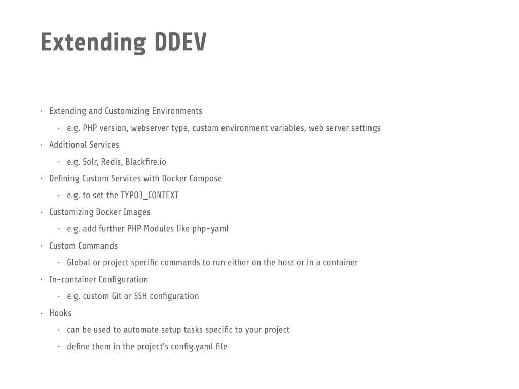 Extending DDEV • Extending and Customizing Envi...