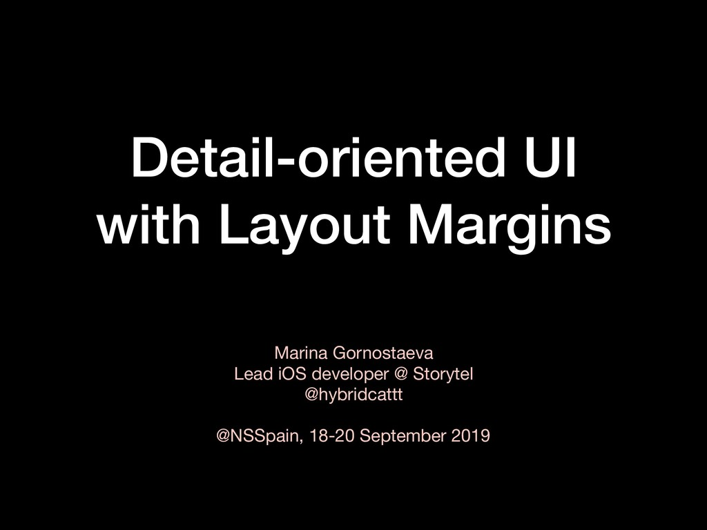 Detail-oriented UI with Layout Margins Marina G...