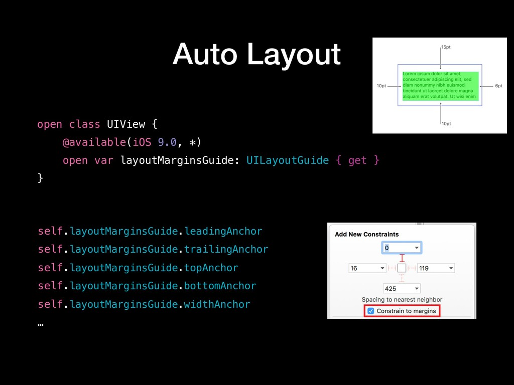 Auto Layout open class UIView { @available(iOS ...