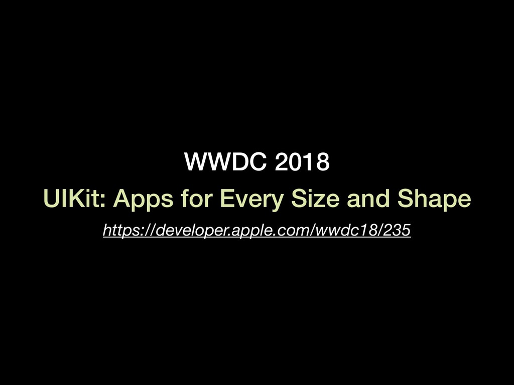 WWDC 2018