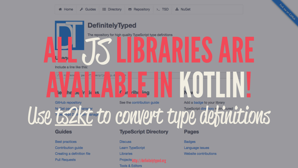 ALL JS LIBRARIES ARE AVAILABLE IN KOTLIN! Use t...