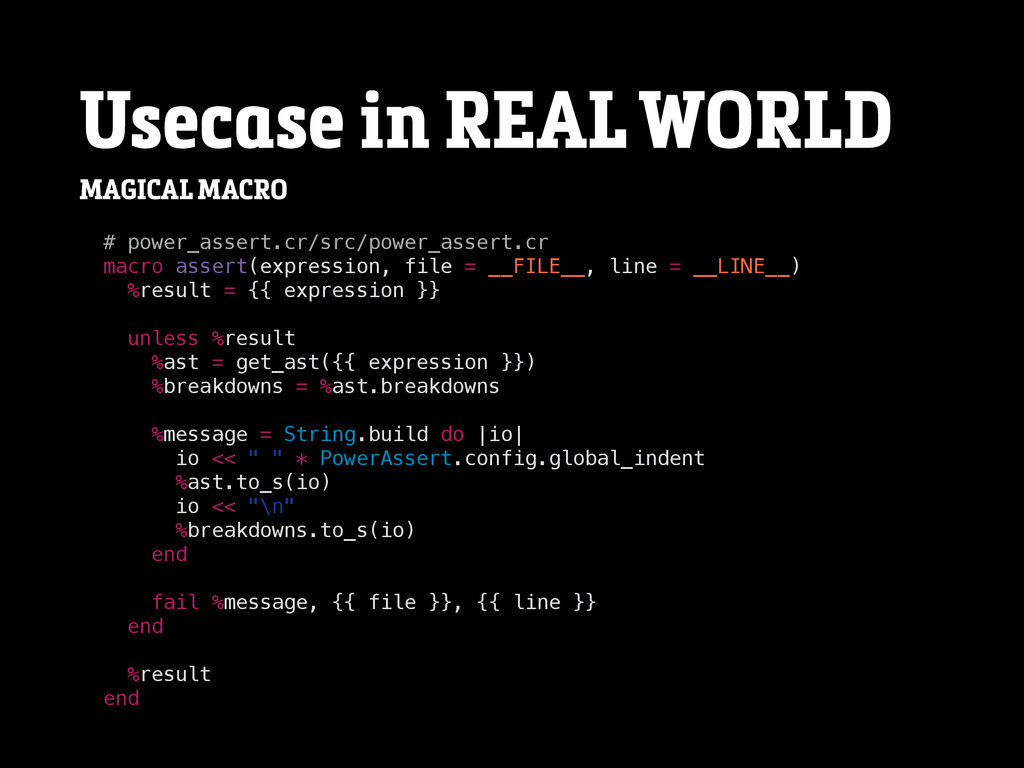 Usecase in REAL WORLD MAGICAL MACRO # power_ass...