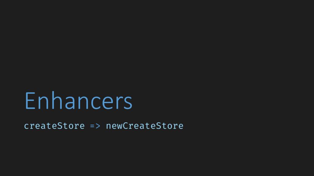 Enhancers createStore => newCreateStore
