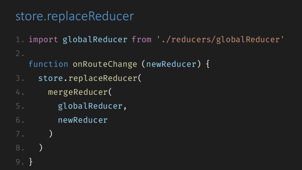 store.replaceReducer 1. import globalReducer fr...