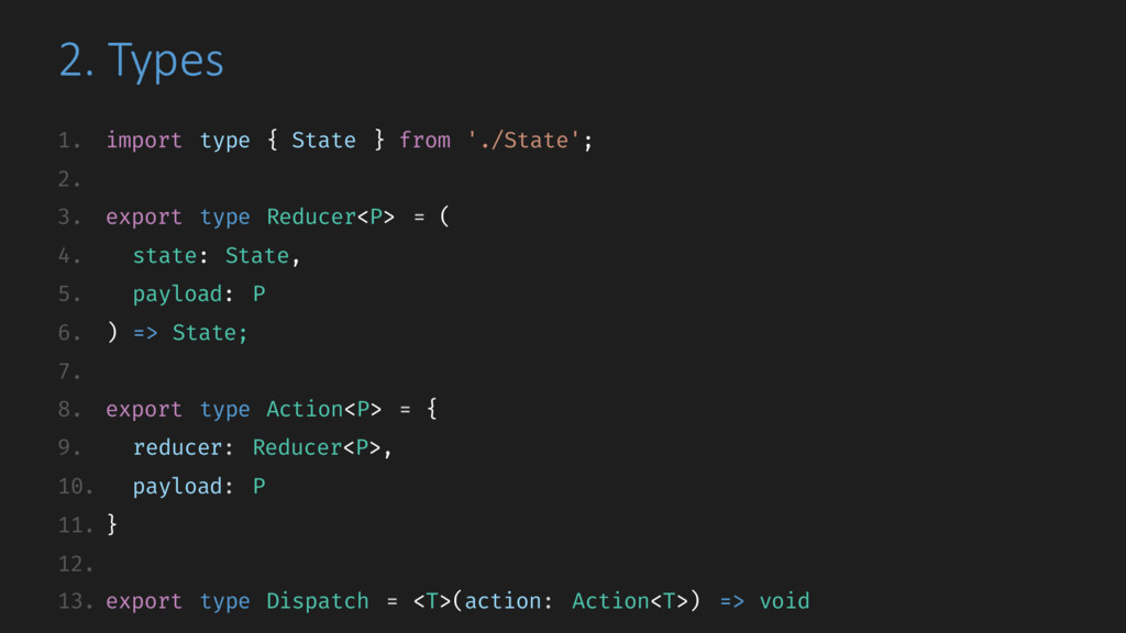 2. Types 1. import type { State } from './State...