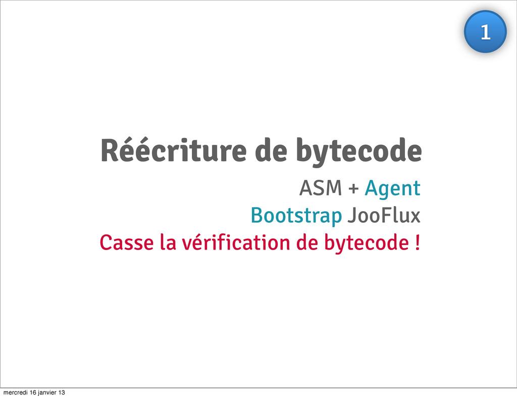 Réécriture de bytecode ASM + Agent Bootstrap Jo...