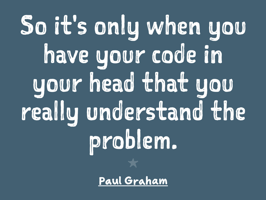 So it's only when you have your code in your he...
