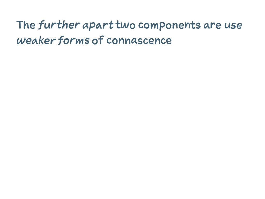 The further apart two components are use weaker...