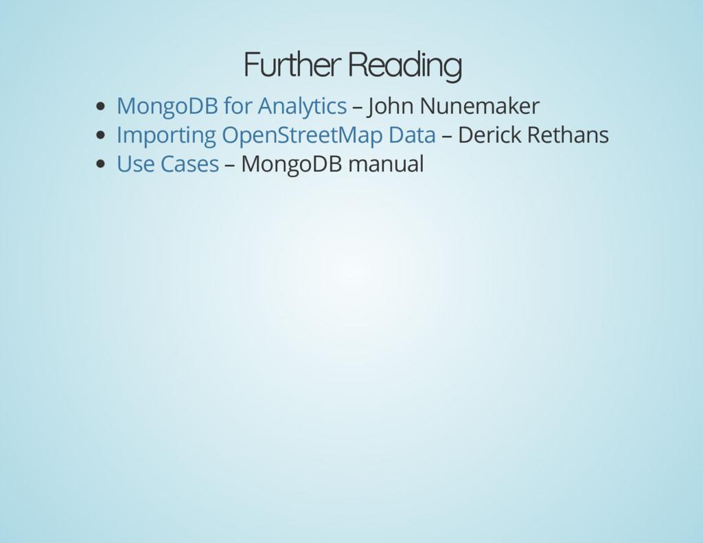Further Reading Further Reading – John Nunemake...
