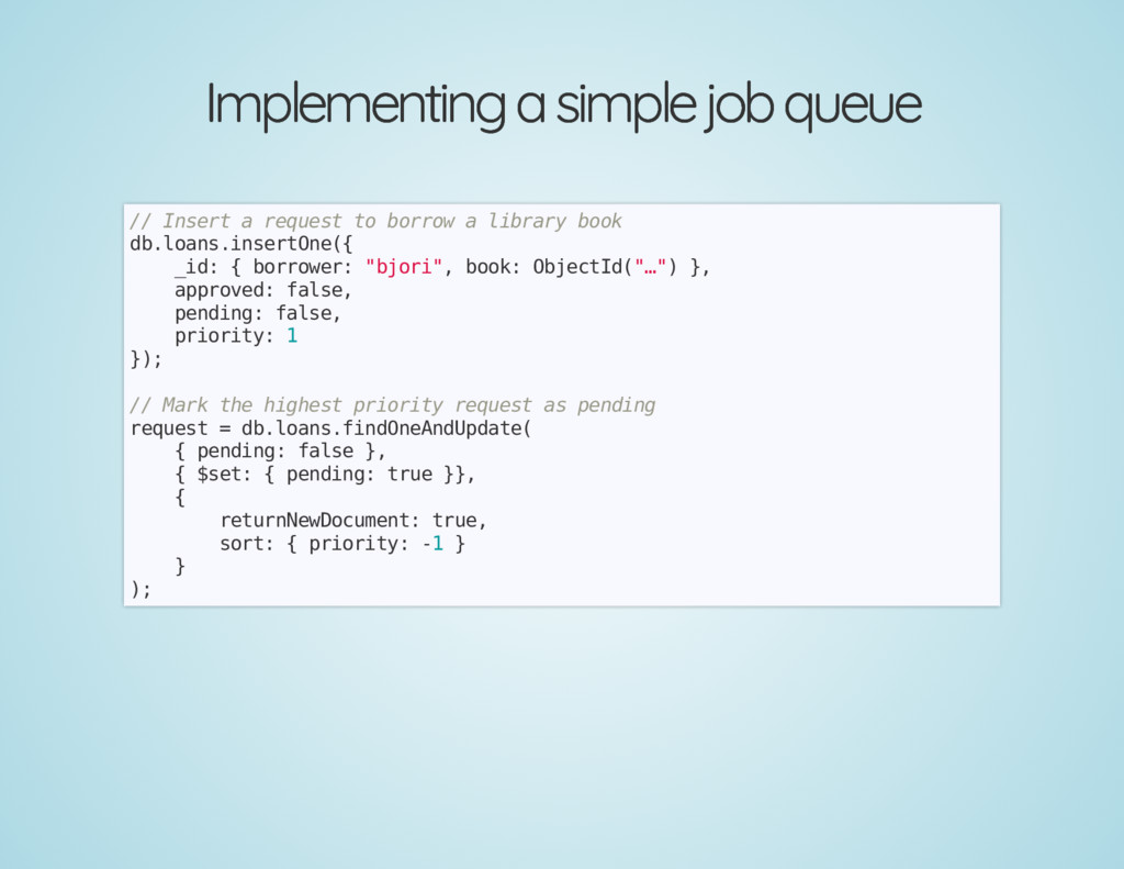 Implementing a simple job queue Implementing a ...