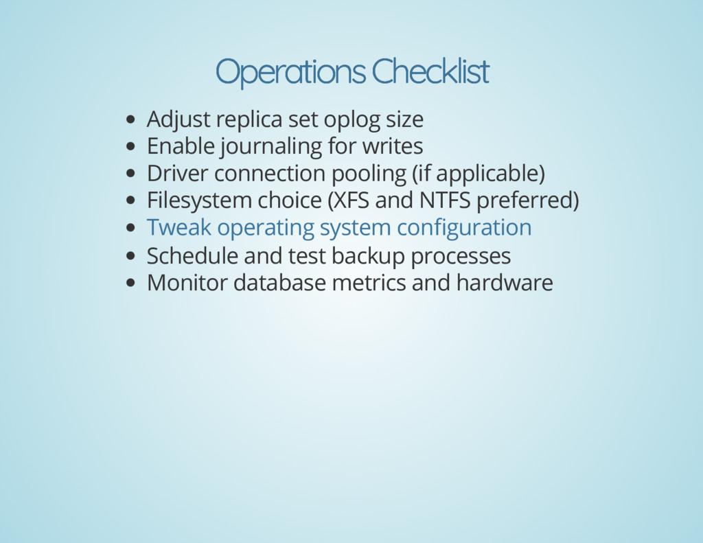 Operations Checklist Operations Checklist Adjus...