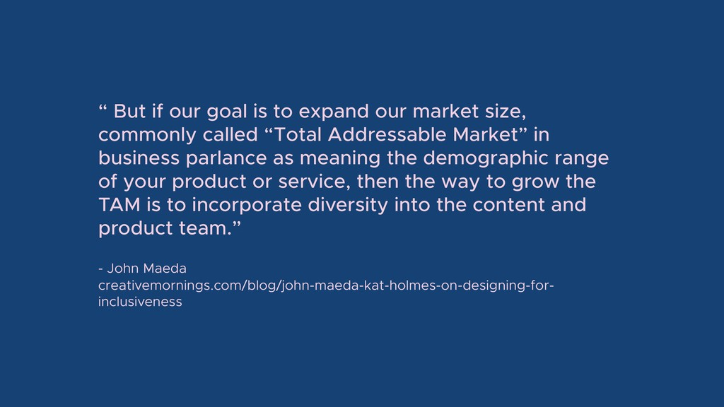 """"""" But if our goal is to expand our market size,..."""
