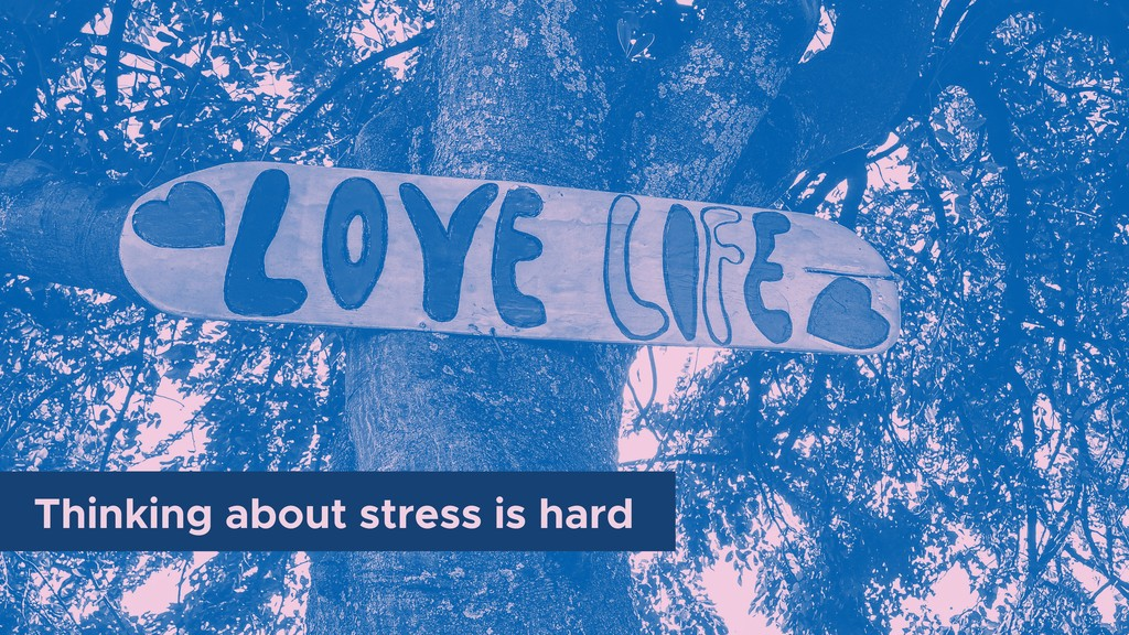 Thinking about stress is hard