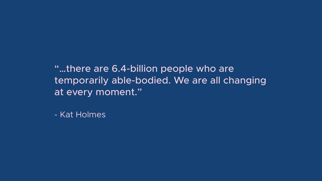 """""""…there are 6.4-billion people who are temporar..."""