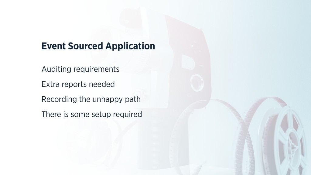 Event Sourced Application Auditing requirements...
