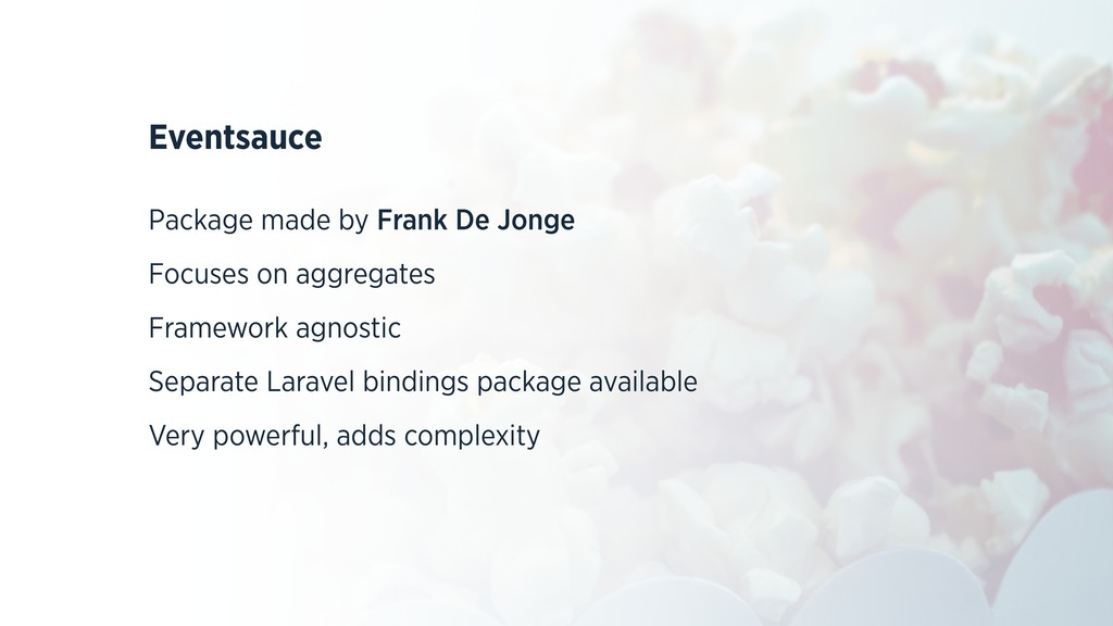 Eventsauce Package made by Frank De Jonge Focus...