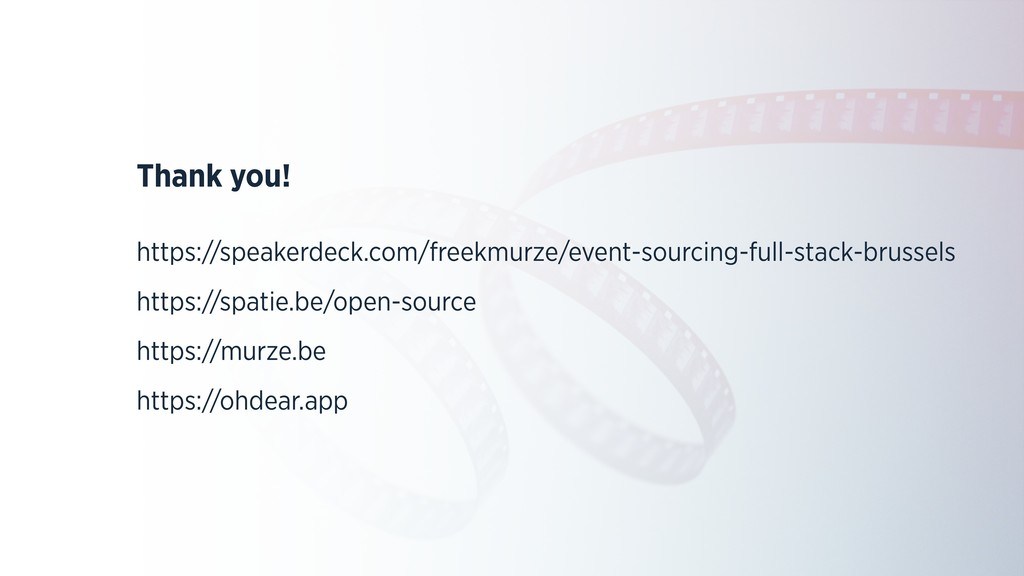 Thank you! https://speakerdeck.com/freekmurze/e...
