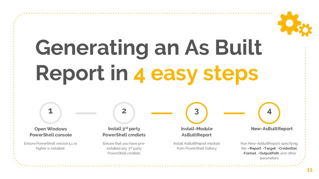 Generating an As Built Report in 4 easy steps 1...