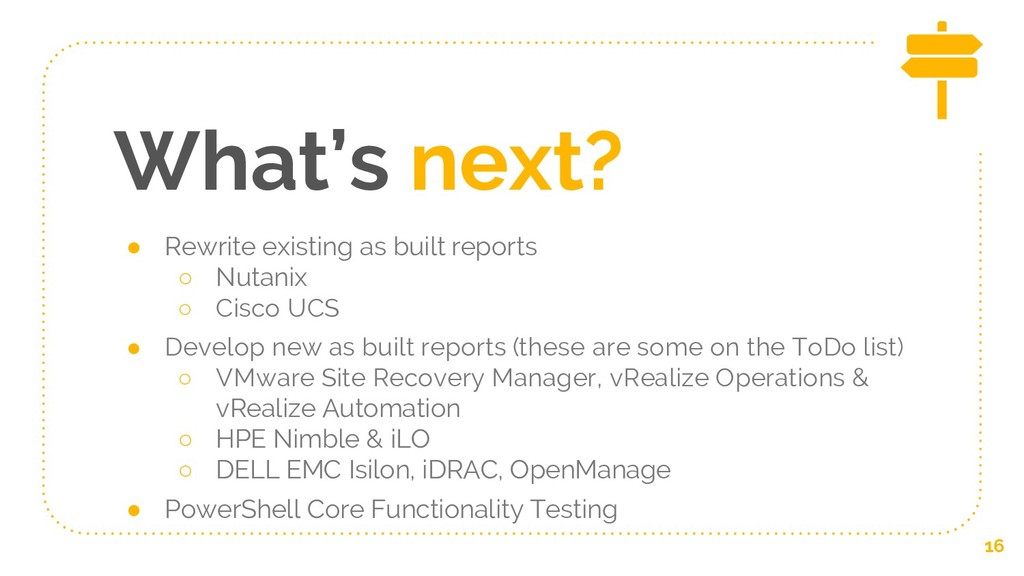 What's next? ● Rewrite existing as built report...