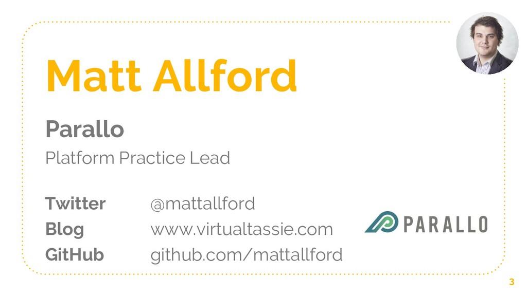Matt Allford Parallo Platform Practice Lead Twi...