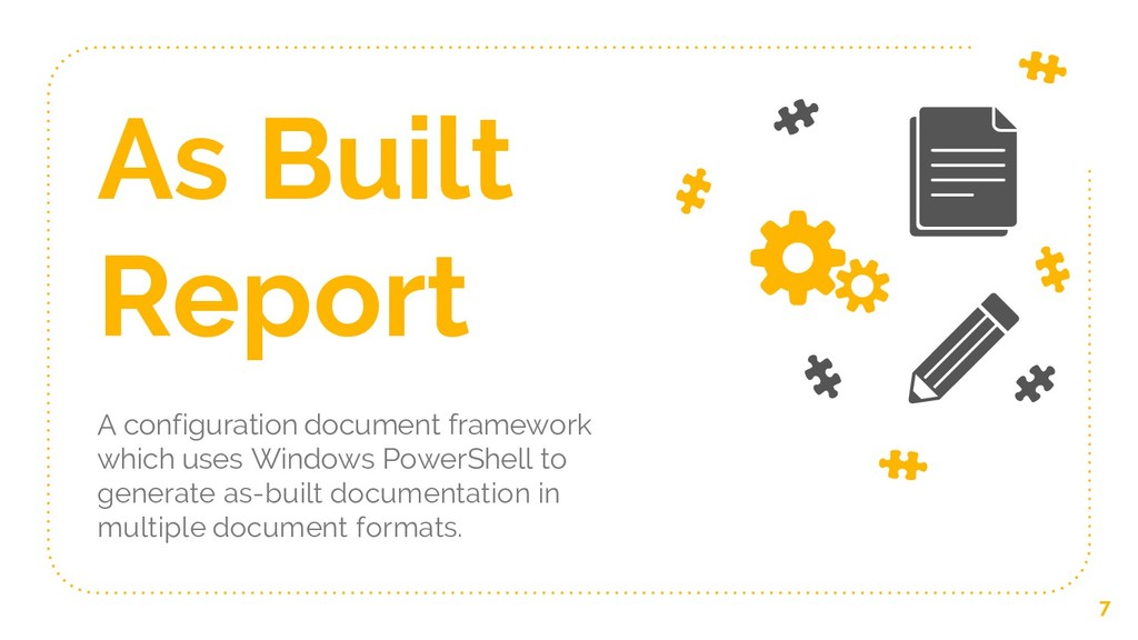 As Built Report A configuration document framew...