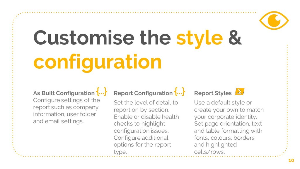 Customise the style & configuration As Built Co...