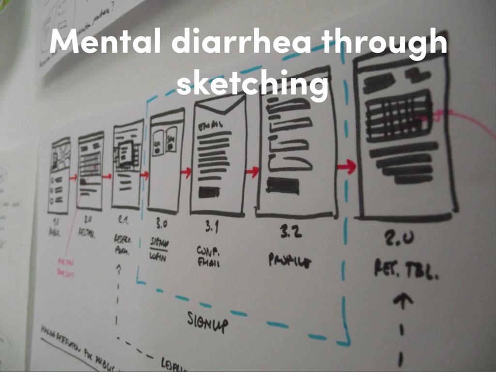 Mental diarrhea through sketching