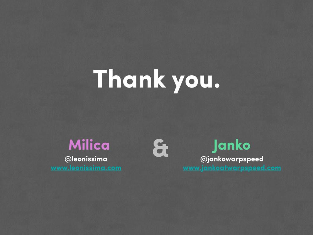 Thank you. Janko Milica @jankowarpspeed www.jan...