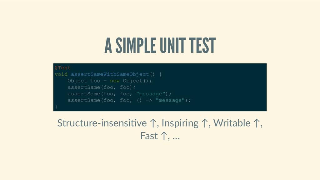 ASIMPLEUNITTEST Structure‑insensi ve↑,Insp...
