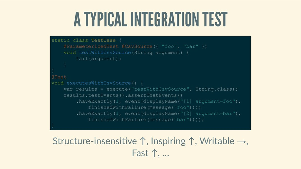 ATYPICALINTEGRATIONTEST Structure‑insensi ve...