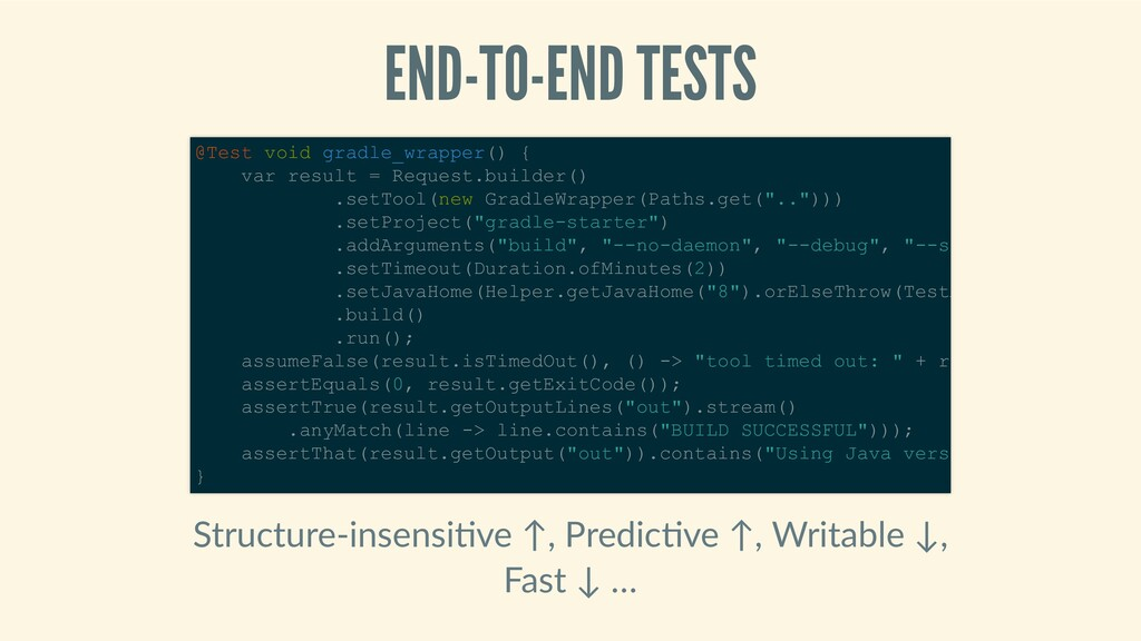 END-TO-ENDTESTS Structure‑insensi ve↑,Predic...