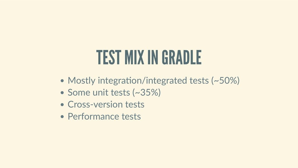 TESTMIXINGRADLE Mostlyintegra on/integrated...