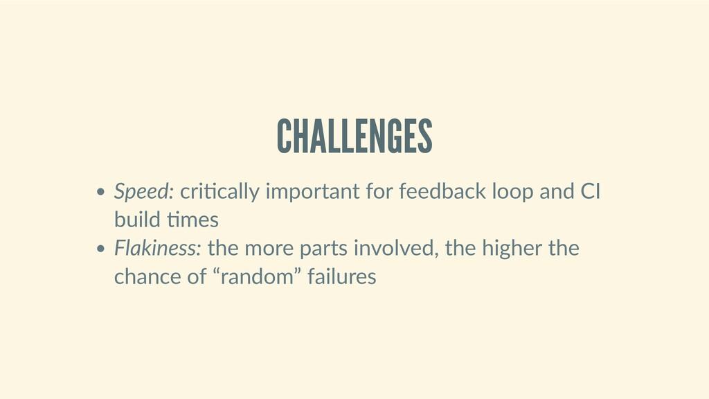 CHALLENGES Speed:cri callyimportantforfeedb...