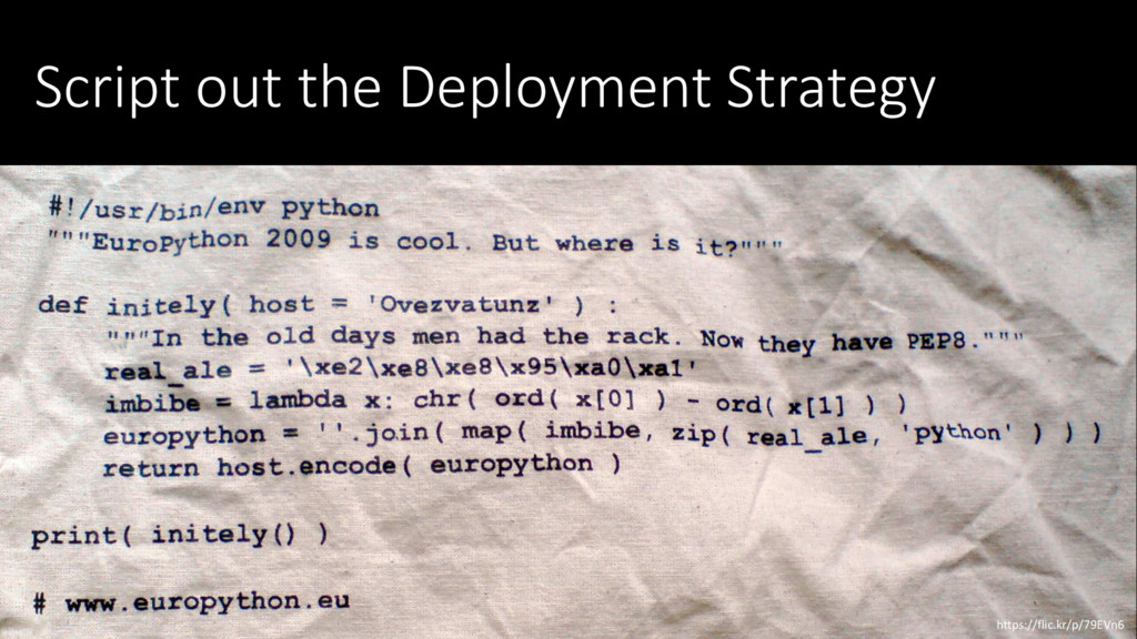 Script out the Deployment Strategy https://flic...