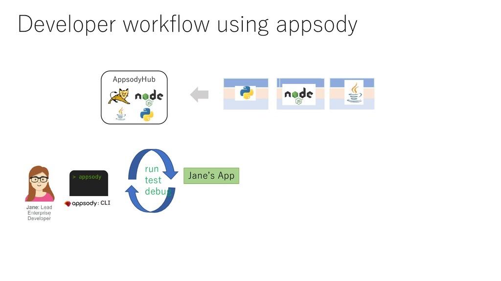 AppsodyHub Jane's App run test debug Developer ...