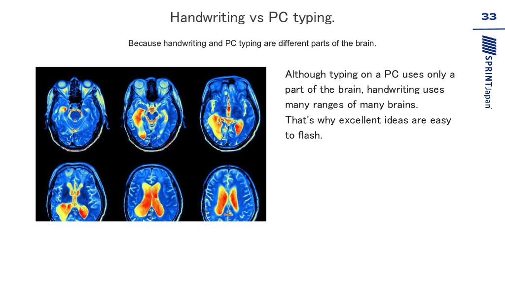 33 Because handwriting and PC typing are differ...